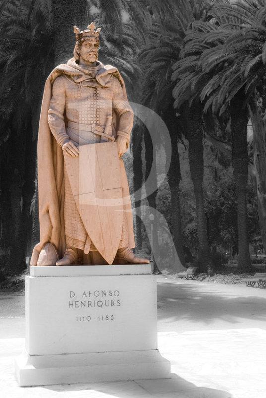 Dom Afonso Henriques no Jardim do Campo Grande