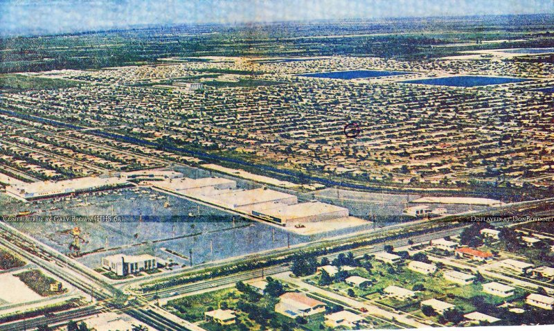 1961 - Palm Springs Village Shopping Center and the development of Palm Springs in the background (see comments below)