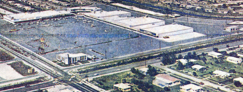 1961 - closeup of the Palm Springs Village Shopping Center on Palm Springs Mile in Hialeah (comments below)