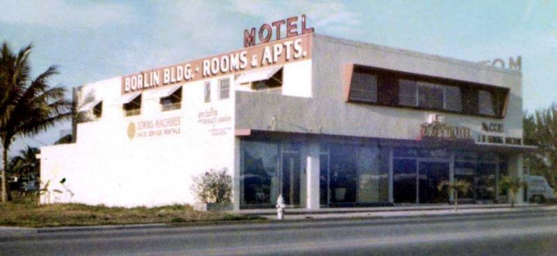 Early 1960s - the Borlin Building (later Trans Lux Motel) at 1075 NE 125th Street, North Miami