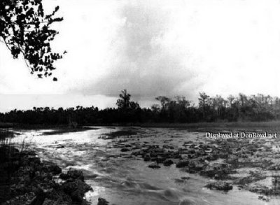 Early 1900s - the rapids on the Miami River around now 27th Avenue before they were dynamited in 1908