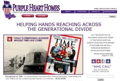Link:  Support Purple Heart Homes to build handicap-accessible homes for veterans
