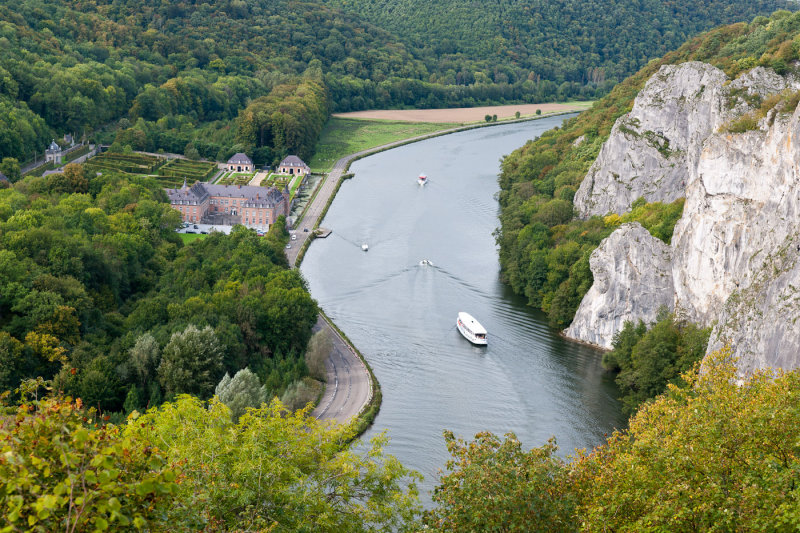 The castle of Freyr along the Meuse river