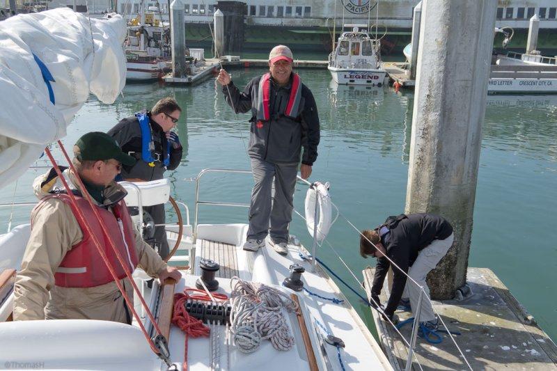 g0326 1st time docking at Hyde Marina