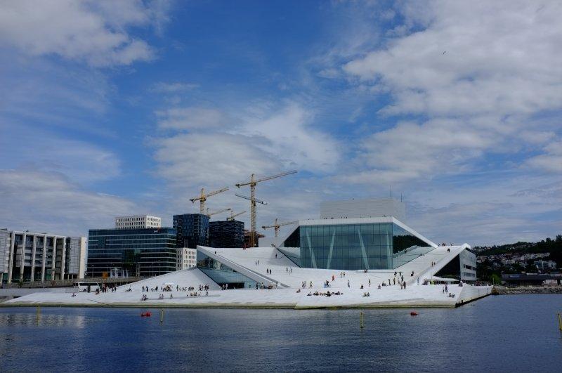 Oslo Opera House with Blue Sky