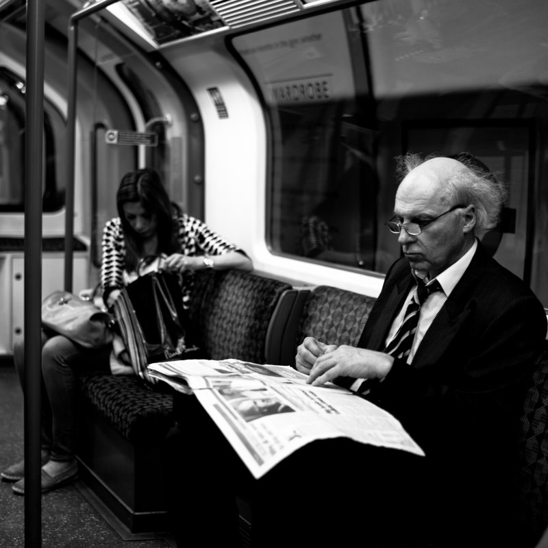 Newspaper on the Tube