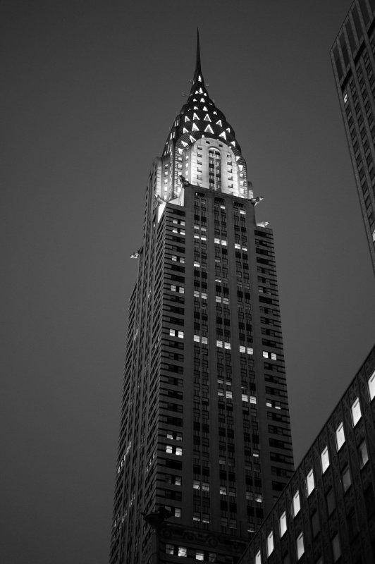 Chrysler Building BW