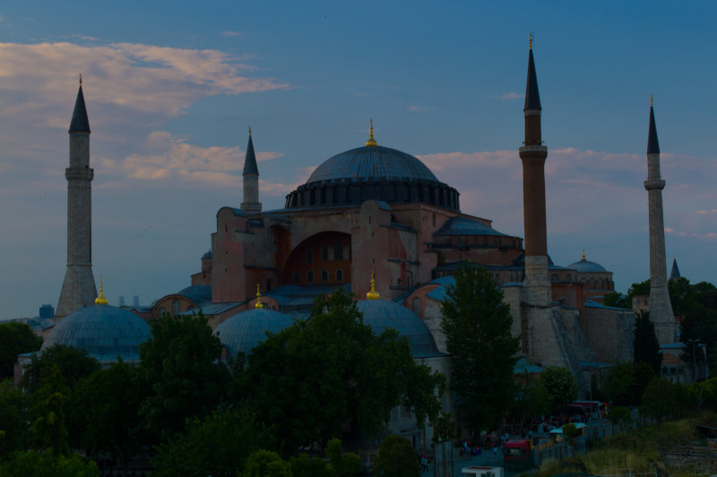 Hagia Sophia with Pink Clouds