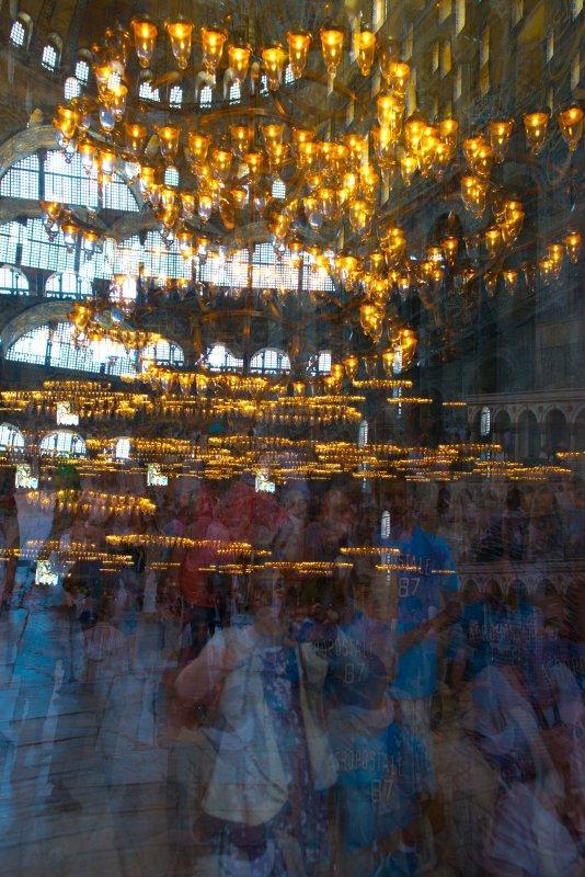 Hagia Sophia Crowd in Motion