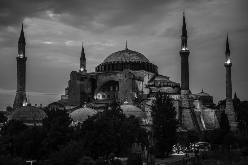 Hagia Sophia Black and White
