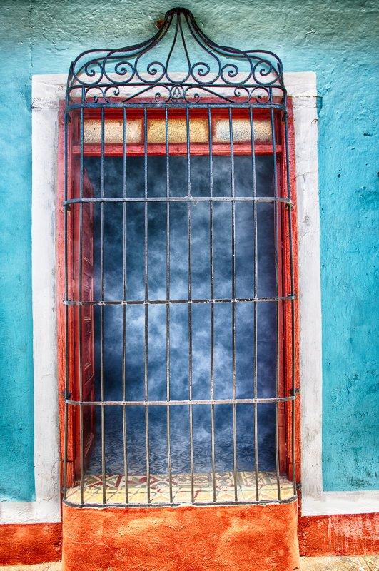 Smoking Doorway in Trinidad