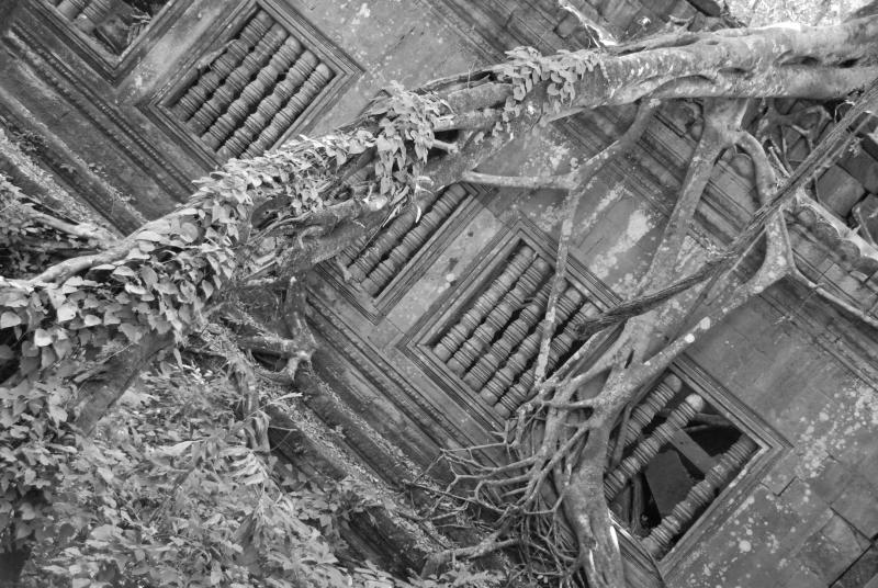 Beng Mealea Black and White