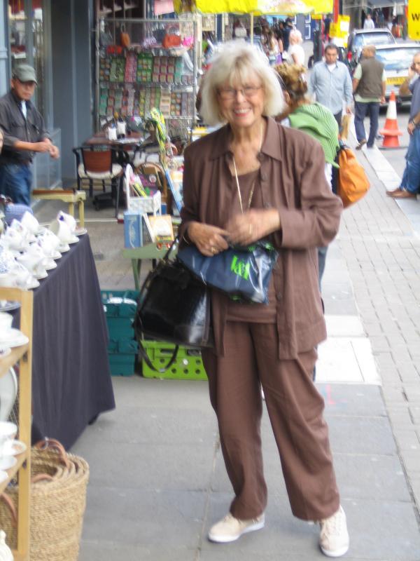 Pam on Portobello Road