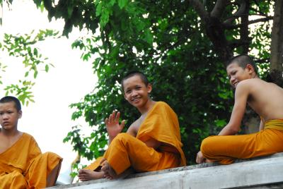 Monks on Canal