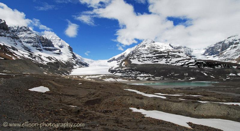 Athabasca Glacier and Sunwapta Lake