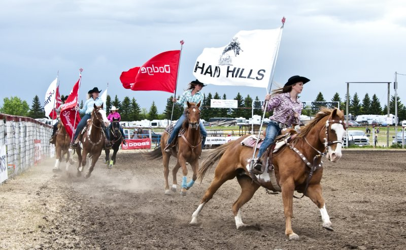 Handhills Stampede Grand Entry On Saturday June 02.2012