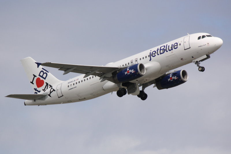 Airbus A320 (N586JB) I Love Blue York
