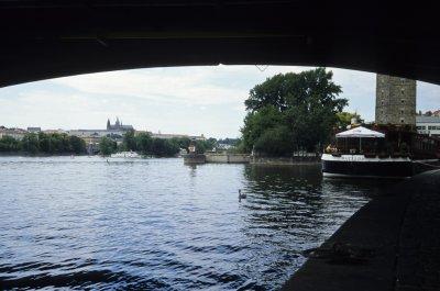 Vandring nede ved Vltava