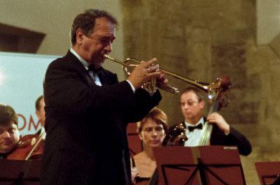 På Prague Proms-konsert i Anelska Klaster i Josefov.