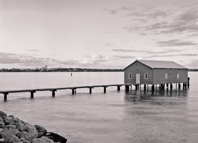 Boatshed - large format test shot