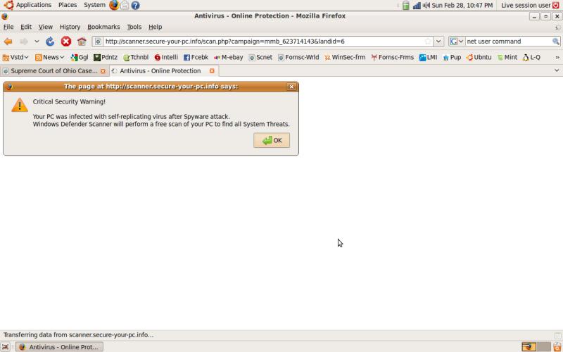Ubuntu infection?