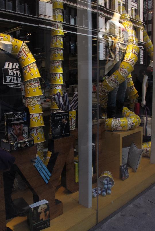NYU Bookstore Window with Reflections
