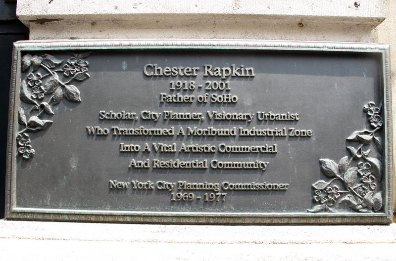 Chester Rapkin - SOHO Memorial Marker