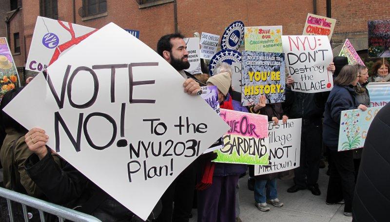 Community Protest Against NYU 2031 Expansion Plans