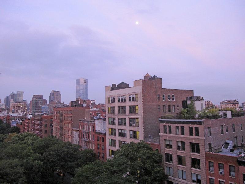 Blue Moon - Downtown Manhattan Sky
