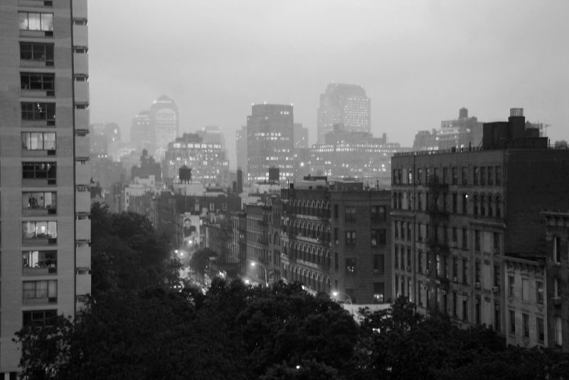 Foggy Night - Downtown Manhattan