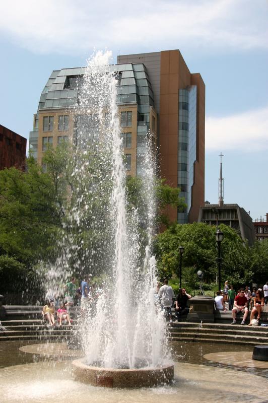 Fountain & NYU Student Center