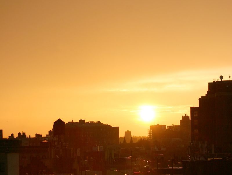 Sunset - West Greenwich Village & New Jersey Palisades