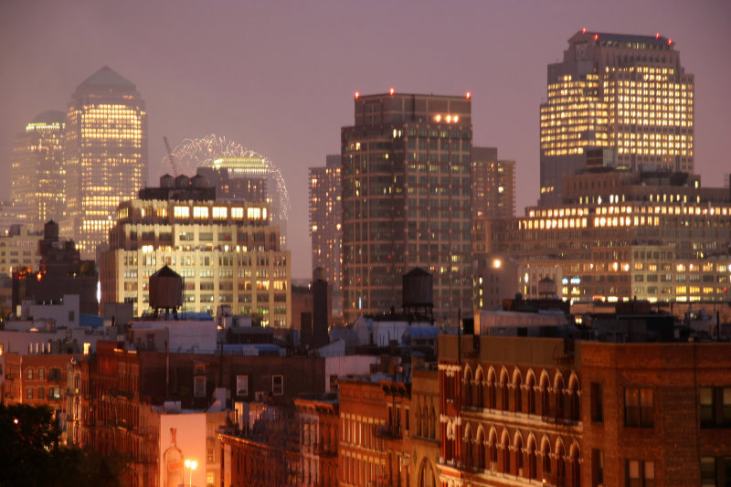 Downtown Manhattan Hudson River Fireworks