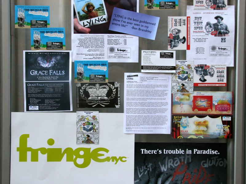 Fringe Theater Festival Posters at the Village Theater