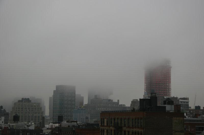 Morning Fog - Downtown Manhattan