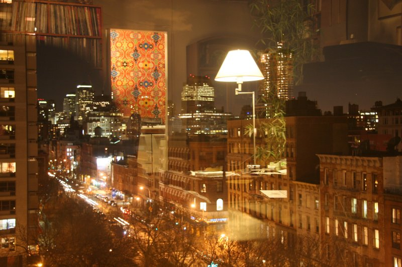 Lower Manhattan & Living Room Window Reflections