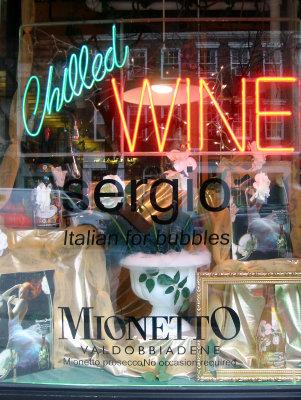 Sergio - Italian Bubbles Wine & Spirits Shop Window