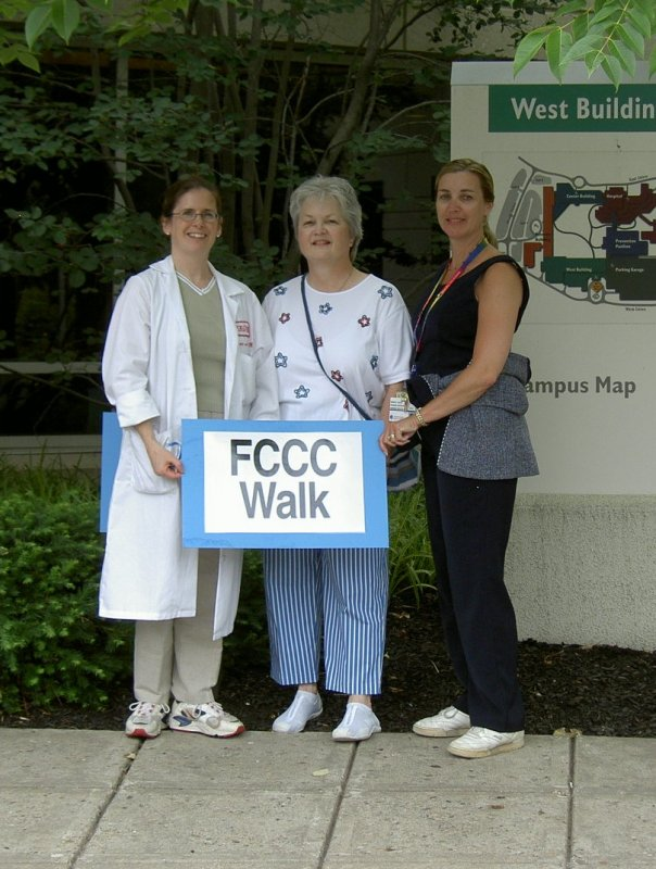 Liddy Shriver Walk at FCCC, Dr.VonMehren, LeeAnn, and nurse Monica