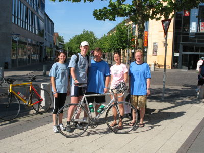 Team GIST Support- Megan, Jonathan , Rob with Drs Anette and Stefan Duensing