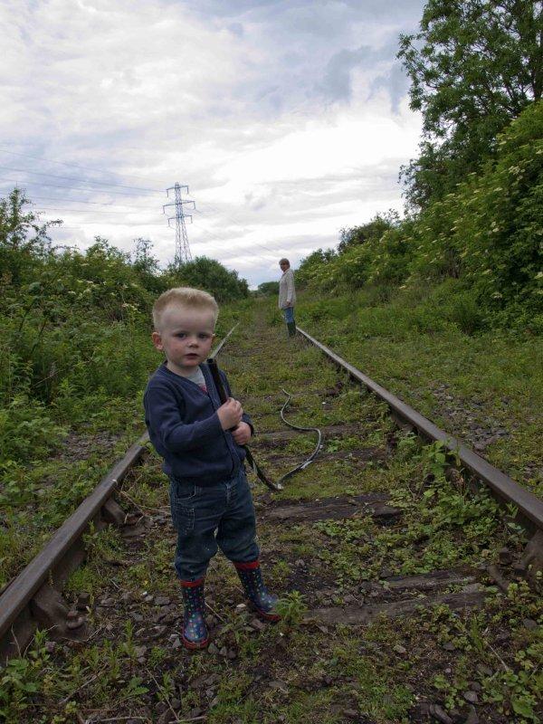 George on the railway