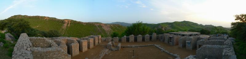 Julian (Jaulian) - Ancient Buddhist Monastery at Taxila - Panorama 566.JPG
