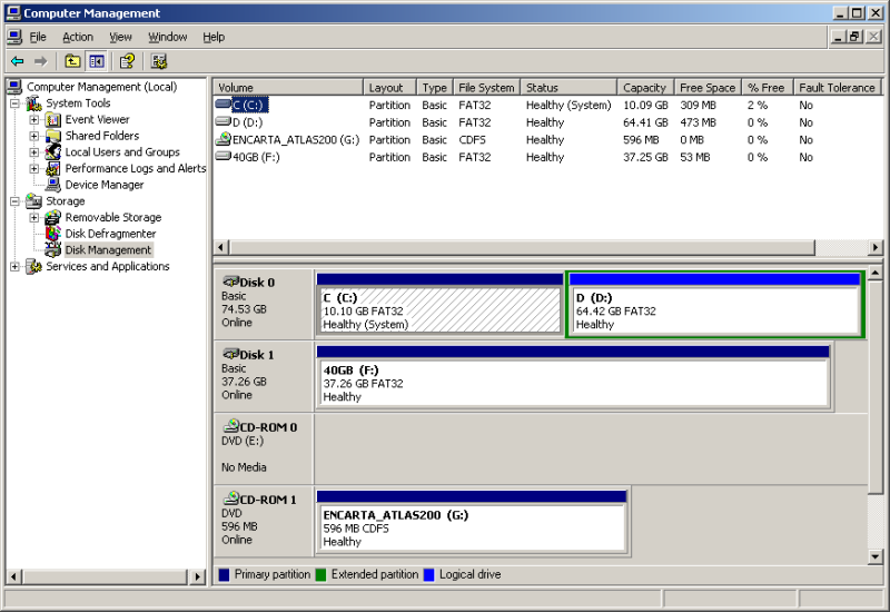 WinXP Disk Management - shows removable IDE drive.PNG