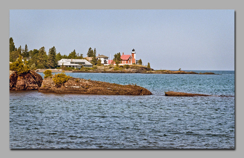 Eagle Harbor Lighthouse from across the inlet