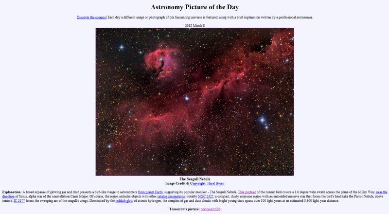NASA APOD March 8 2012