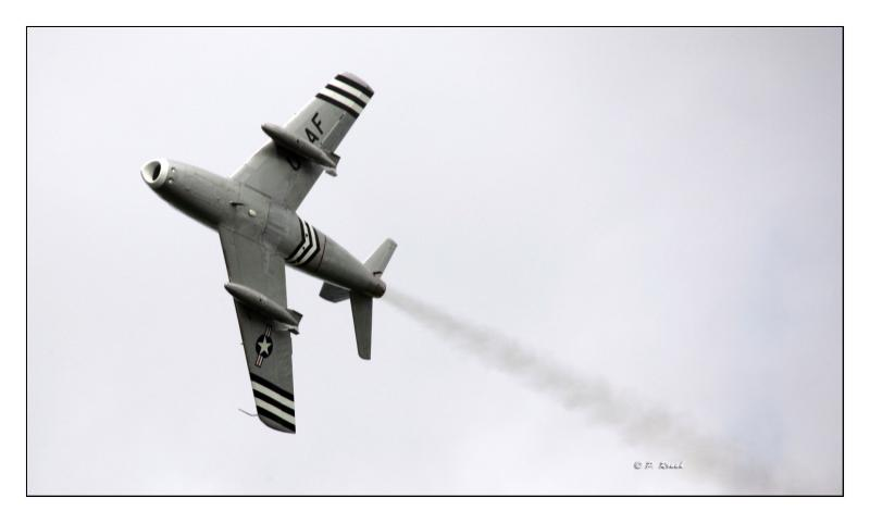 North American F-86A Fly-by