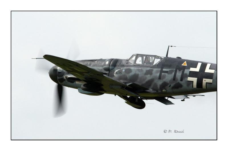 Me Bf-109G-6 in the sky
