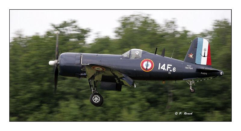 F4U-7Corsair taking-off