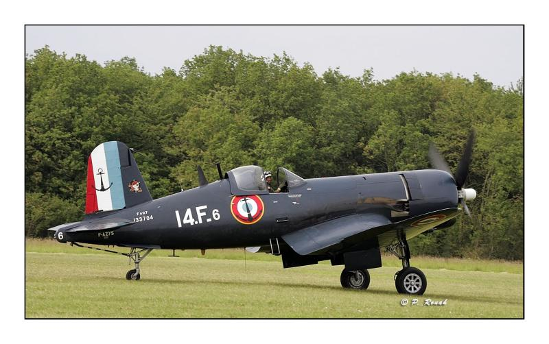 F4U-7 Corsair on the ground