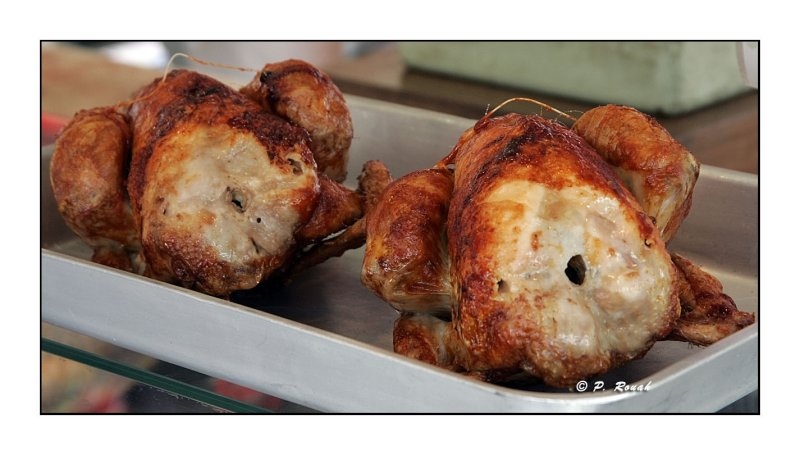 Poulets rotis - Roasted Chickens