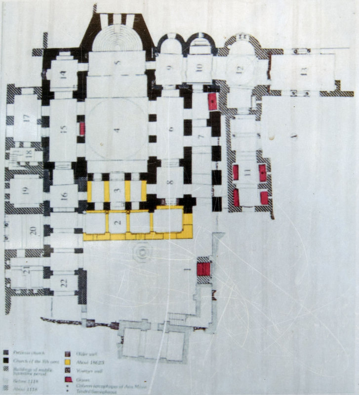 Myra Saint Nicolas church March 2011 ground plan.jpg